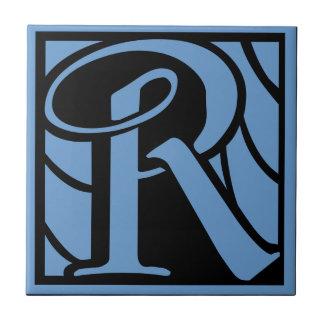 Monogram Letter R Ceramic Tile
