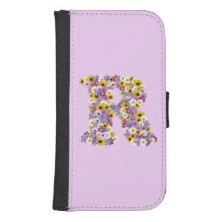 Monogram letter r samsung s4 wallet case