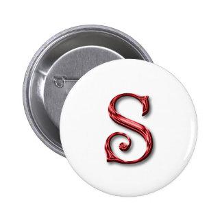 Monogram Letter S 2 Inch Round Button