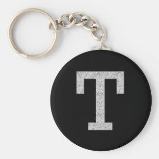 Monogram Letter T Keychain