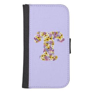 Monogram letter T Samsung S4 Wallet Case