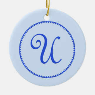 Monogram letter U hanging ornament / pendant