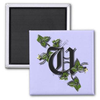 Monogram Letter U magnet