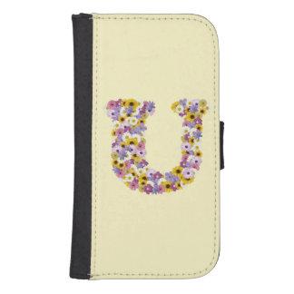 Monogram letter U Samsung S4 Wallet Case