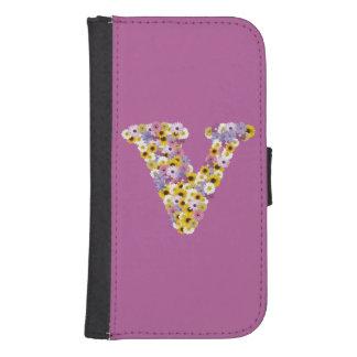 Monogram letter V Samsung S4 Wallet Case