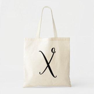 "Monogram Letter ""X"" Budget Tote-Canvas Tote Bag"
