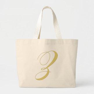 Monogram Letter Z Golden Single Jumbo Tote Bag