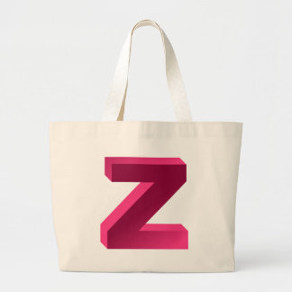 Monogram Letter Z Large Tote Bag