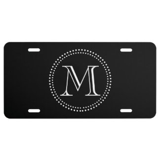 Monogram License Plate