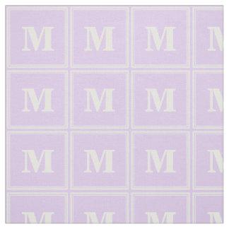 Monogram lilac stripes fabric
