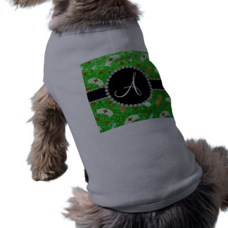 Monogram lime green glitter nurse hats heart dog t shirt