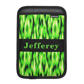 Monogram Lime Green Pattern iPad Mini Sleeve