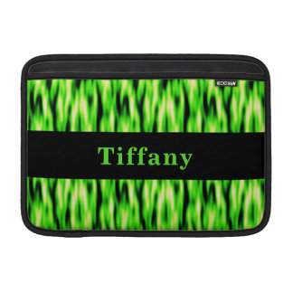 Monogram Lime Green Pattern MacBook Air Sleeve