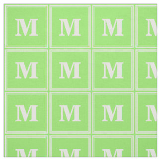 Monogram lime green stripes fabric