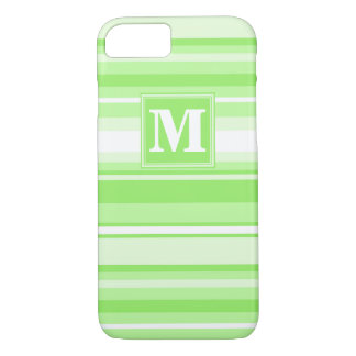 Monogram lime green stripes iPhone 8/7 case