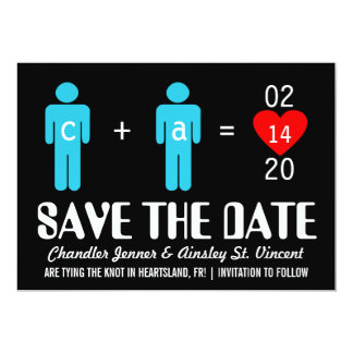 """Monogram Love Couple Save the Date Cards 5"""" X 7"""" Invitation Card"""