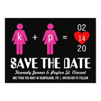 Monogram Love Couple Save the Date Cards Custom Invite