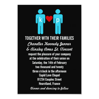 Monogram Love Couple Wedding Invitations