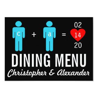 "Monogram Love Couple Wedding Menu Cards 4.5"" X 6.25"" Invitation Card"