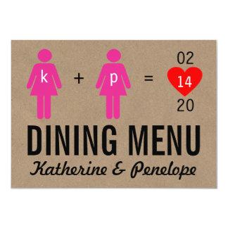 Monogram Love Couple Wedding Menu Cards Custom Invite