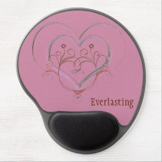 Monogram Love Keepsake Pink Gel Mousepad