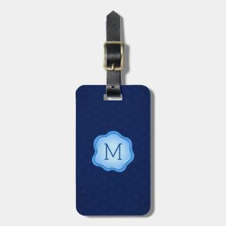 Monogram Luggage Tag - Blue Ink, Royal Navy