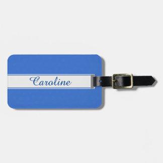 Monogram Luggage Tag - Name Tag, Cool Blue