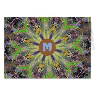 Monogram M Digitally Designed Mandella Card