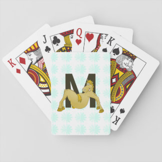 Monogram M Flexible Horse Personalised Playing Cards