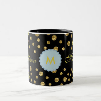 Monogram-M-Madison Black Two-Tone Mug