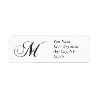 Monogram M Return Address Labels