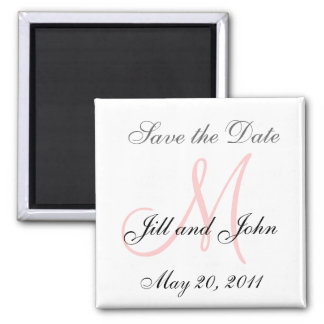 Monogram M Wedding Save the Date Magnet