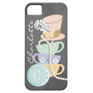 Monogram Mad Hatter Teacups and Hat iPhone 5 Covers