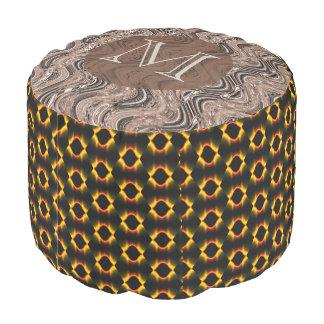 Monogram Madison Sturdy Spun Polyester Round Pouf