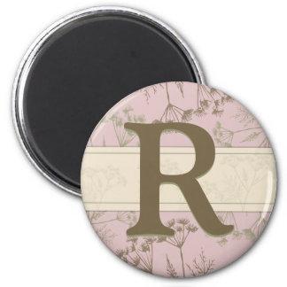 Monogram Magnet - Fennel Pink