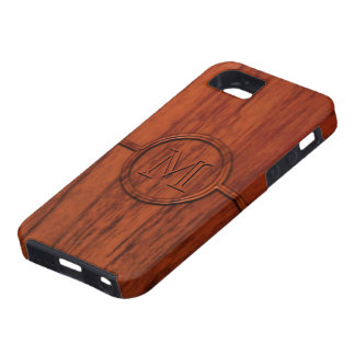 Monogram Mahogany Wood Print iPhone 5 Case