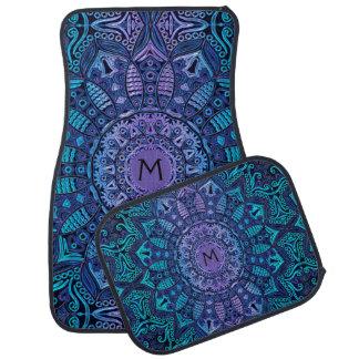 Monogram Mandala Car Floor Mats