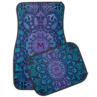 Monogram Mandala Car Floor Mats Car Floor Carpet