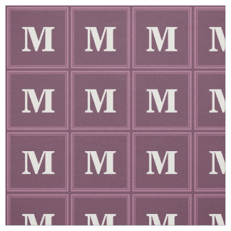 Monogram mauve stripes fabric
