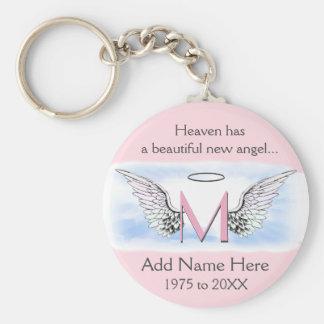 Monogram | Memorial |  Angel Wings Keychain
