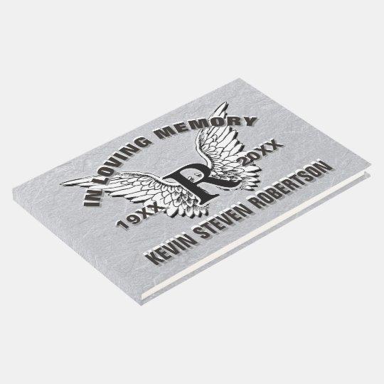 Monogram Memorial Guest Book