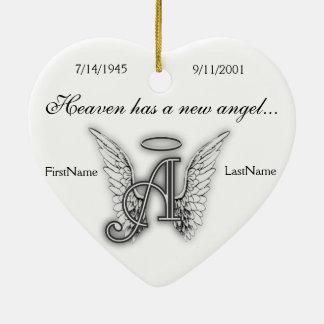 Monogram Memorial Tribute Ornament A