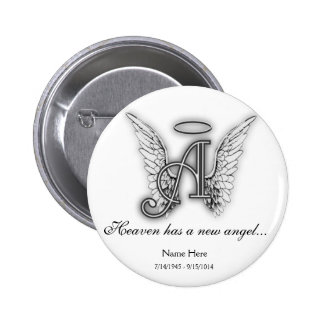 Monogram Memorial Tribute Ornament A 2 Inch Round Button