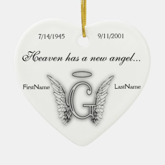 Monogram Memorial Tribute Ornament G