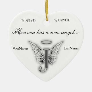 Monogram Memorial Tribute Ornament J