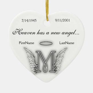 Monogram Memorial Tribute Ornament M
