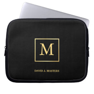 Monogram - Men's Executive Corporate Laptop Skin Laptop Sleeve