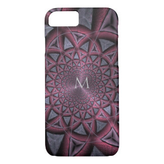 Monogram Metallic Fractal iPhone Case