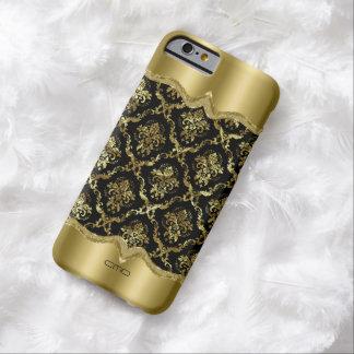 Monogram Metallic Gold Damasks Barely There iPhone 6 Case