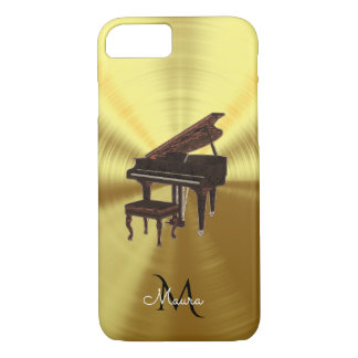Monogram Metallic Grand Piano Music iPhone 7 Case